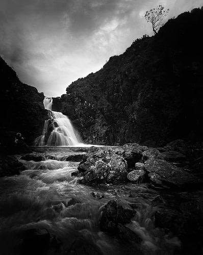 Waterfall near Sligachan | Rodenstock Grandagon 65 mm | f32 | Trix 320 4x5 inch Large Format B&W Film